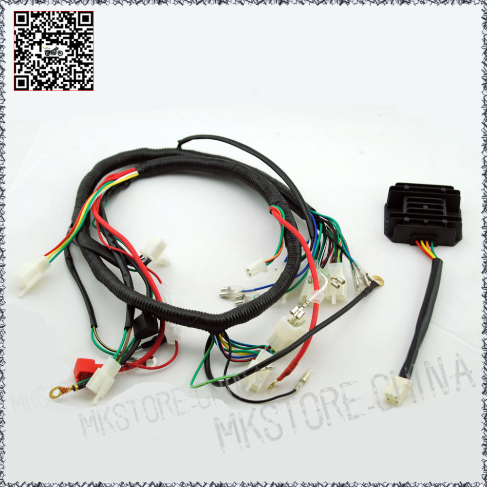 Free shipping for 250CC QUAD WIRING HARNESS 200 250cc ...
