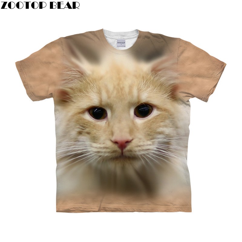 Funny Cat t shirt 3d t-shirt Men Women tshirt Summer Tee Brand Top Anime Camiseta Short Sleeve Tee Animal Drop Ship ZOOTOP BEAR