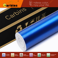 2015 New Arrival Matte Chrome Ice Brushed Vinyl Blue Wrapping Car Sticker For Car Styling