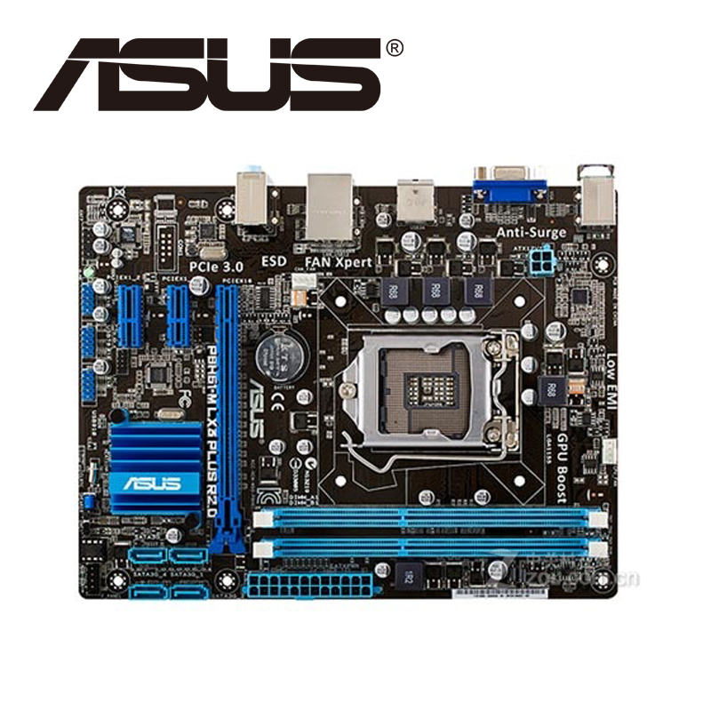 Asus P8H61-M LX3 PLUS R2.0 Desktop Motherboard H61 Socket LGA 1155 i3 i5 i7 DDR3 16G uATX UEFI BIOS Original Mainboard On Sale asus p8h67 m lx desktop motherboard h67 socket lga 1155 i3 i5 i7 ddr3 16g uatx on sale