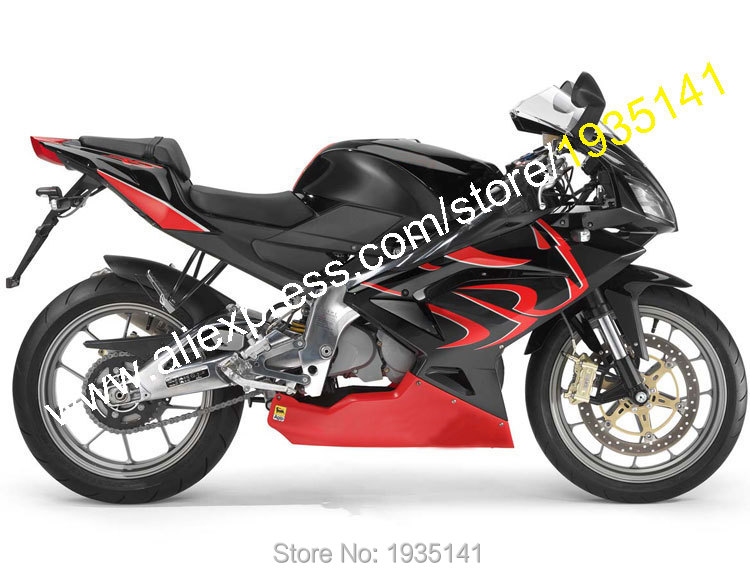 Hot Sales,For Aprilia Lionhead RS125 2007 2008 2009 2010 2011 RS 125 07-11 Red Black Motorcycle Fairing Kit (Injection molding)
