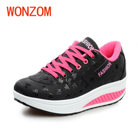WONZOM מקרית נעלי הגדלת גובה נשים נעלי פלטפורמת טריזי אופנה לנשימה עמיד למים יציבות הגעה חדשה 35-42