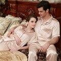Mujeres Hombres Otoño Invierno otoño Rayon Seda ropa de Dormir de Lana Pijamas Parejas Robes Ropa de Dormir 1 UNIDS Para la Venta Caliente
