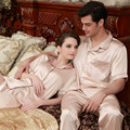 Women Men Fall Autumn Winter Rayon Silk Fleece Sleepwear Pajama Sets Couples Robes Nightwear 1 PCS For Hot Selling