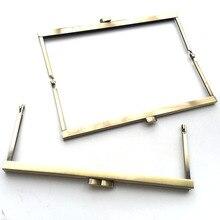 Бронзовый DIY Кошелек Сумочка ручка монеты сумки металлическая застежка заклепка рамка 20 см Новая модная ручка