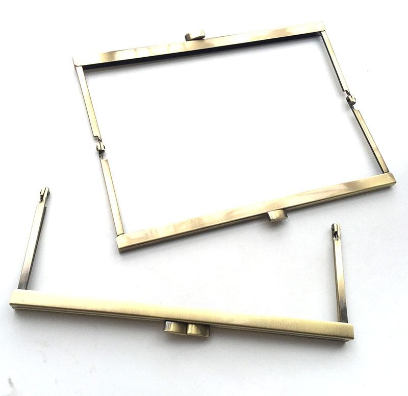 8 inch brushed brass clutch purse frame,20cm