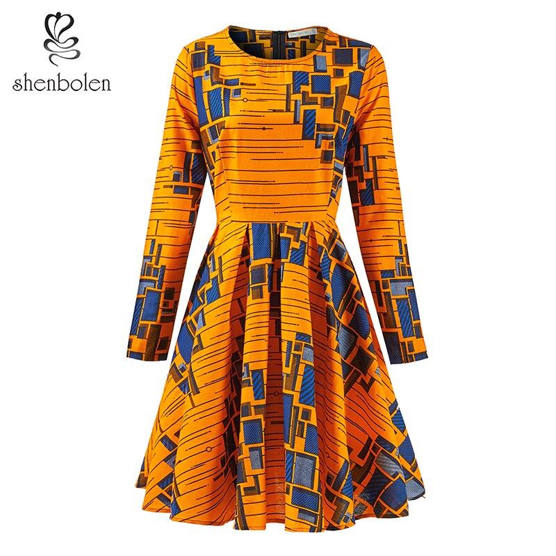 Afrique robes pour femmes mode Ankara imprimer vêtements taille haute robe style africain haute qualité robe