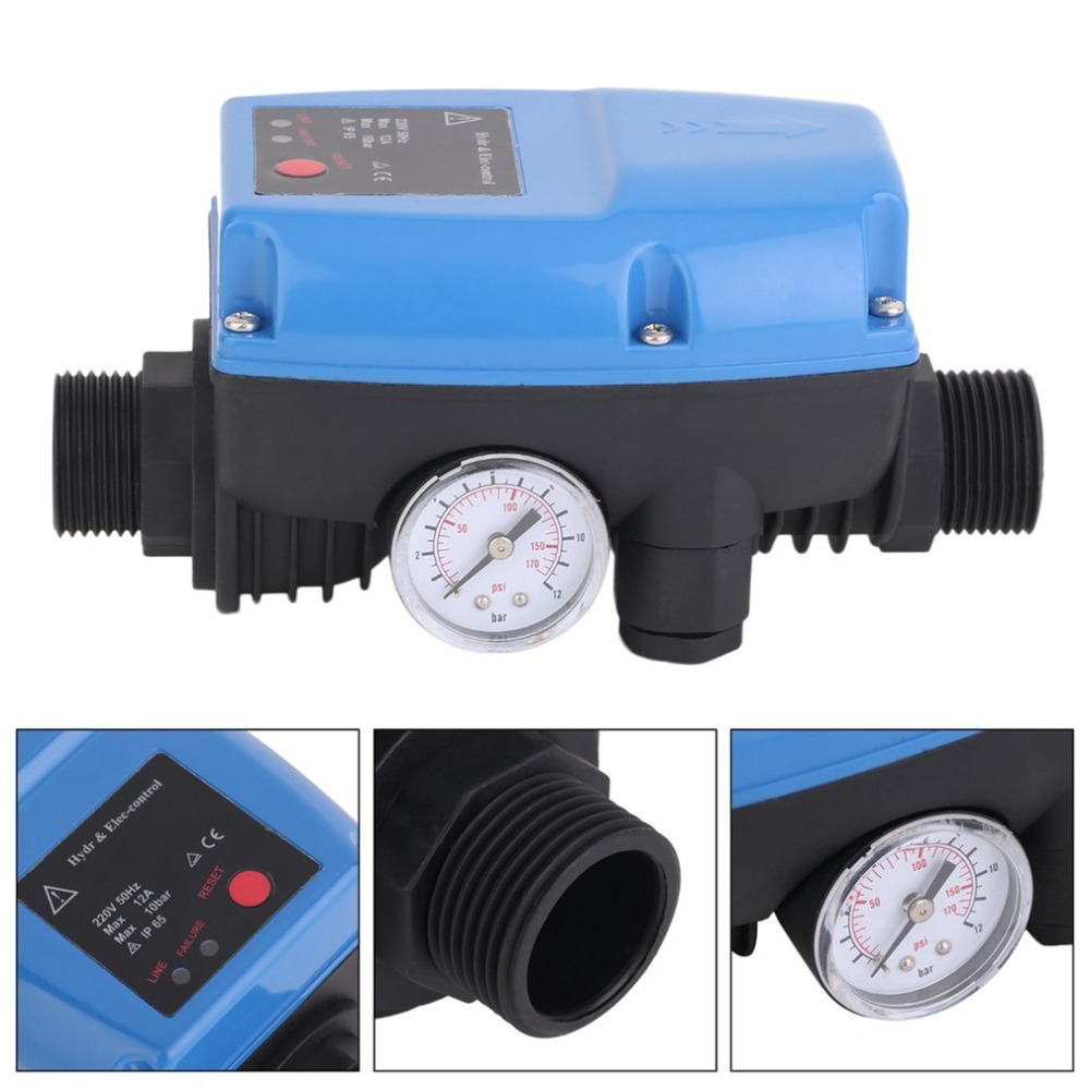 SKD-5 Electronic Water Pump Pressure Control Professional Automatic Pressure Control Switch With Pressure GaugeSKD-5 Electronic Water Pump Pressure Control Professional Automatic Pressure Control Switch With Pressure Gauge