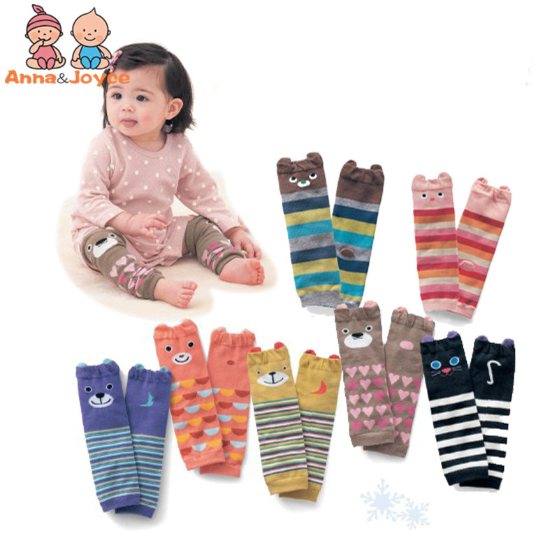 Home Gentle 1 Pair Cartoon Soft Cotton Baby Kids Winter Leg Warmers Socks Child Knee Pads Gray Buy One Give One