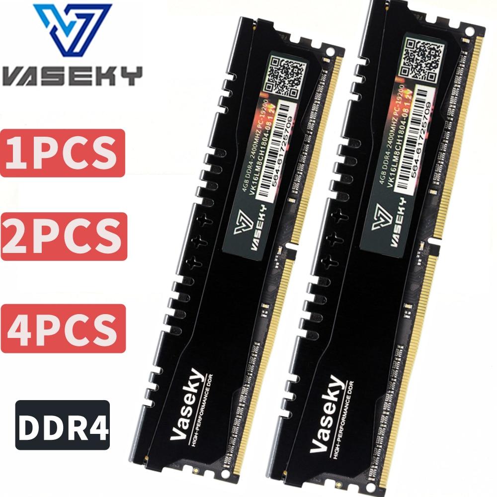 Vaseky 4 gb 8 gb 4g 8g PC Mémoire RAM Memoria Module Ordinateur De Bureau PC4 DDR4 2133 2400 2133 mhz 2400 mhz 19200 17000 16 gb 32 gb