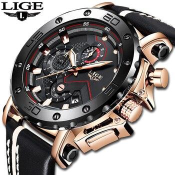 ¡Novedad de 2020! relojes LIGE a la moda para hombre, reloj de cuarzo militar de lujo con esfera grande, reloj deportivo resistente al agua para hombre