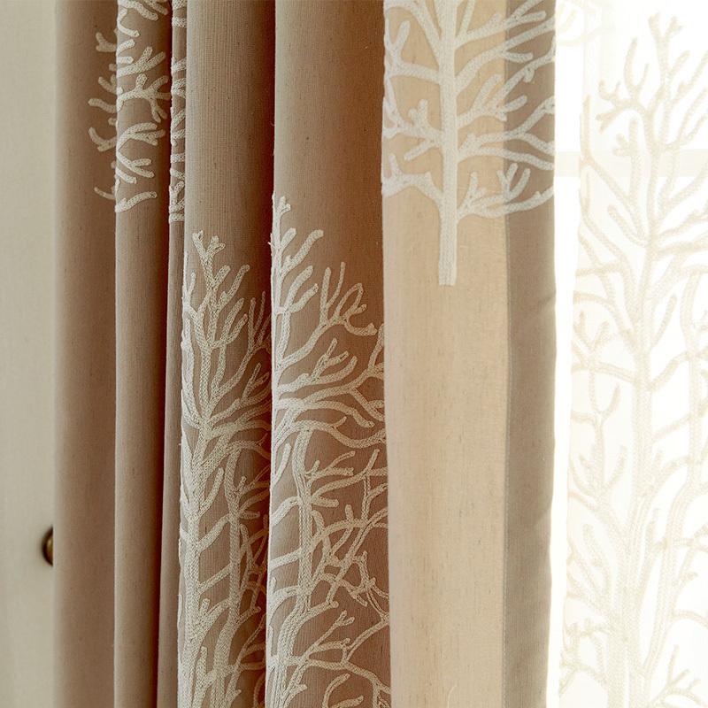 algodn de lino cortina de la ventana para el apagn cortinas gruesas cortinas del dormitorio