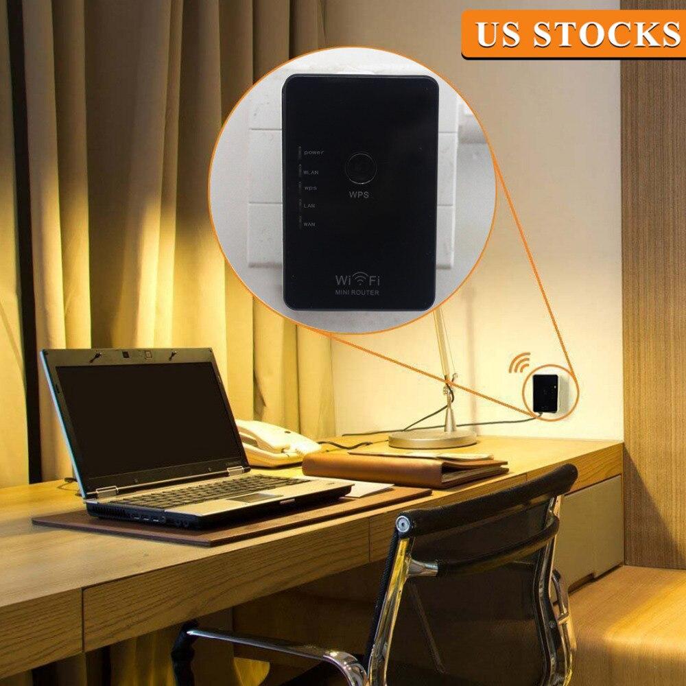 NOYOKERE New 802.11N mini Wifi Repeater Wireless-N AP Range Extender 300Mbps Booster Signal Amplifier wlan EU/US