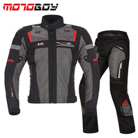 MOTOBOY Men's Motorcycle breathable jackets racing pants Motocross Dirt Bike Riding jacket Jersey CE Protective Gears Suits
