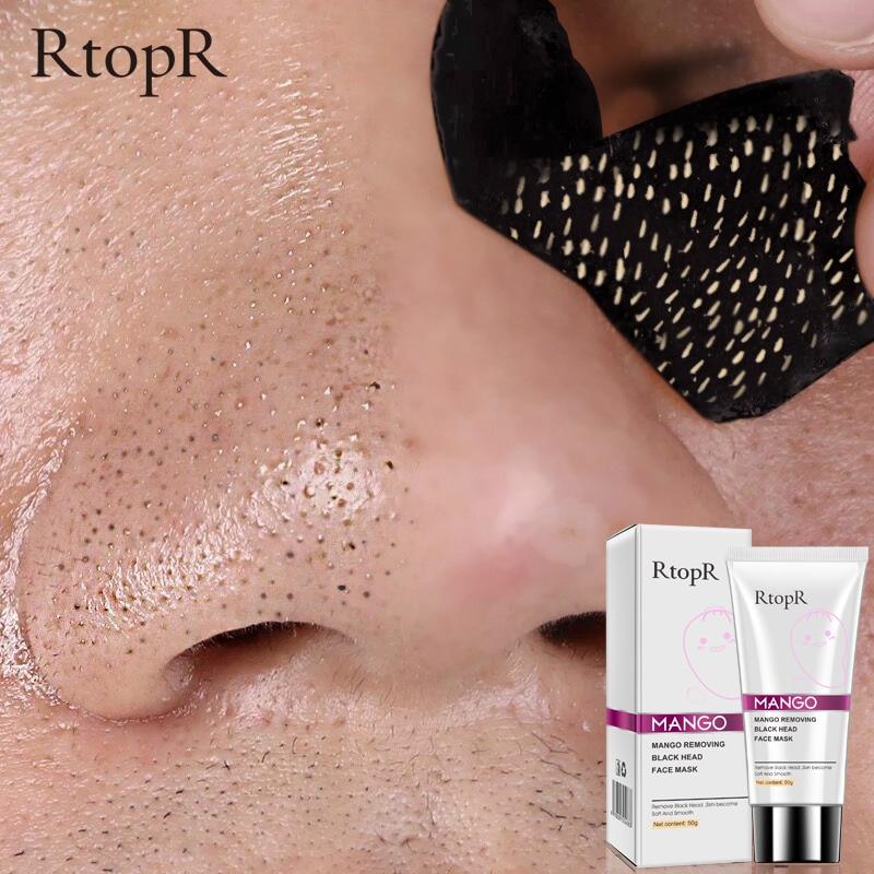 RTOPR Blackhead Remover Nose Mask Pore Strip Black Mask Peeling Acne Treatment Face Mask Deep Cleansing Oil-control 1