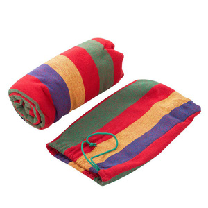 Image 3 - Enkel Dubbel Dikke Canvas Hangmat Outdoor Camping Indoor Leisure Swing Student Slaapzaal Hangmat Artefact Hoge Kwaliteit