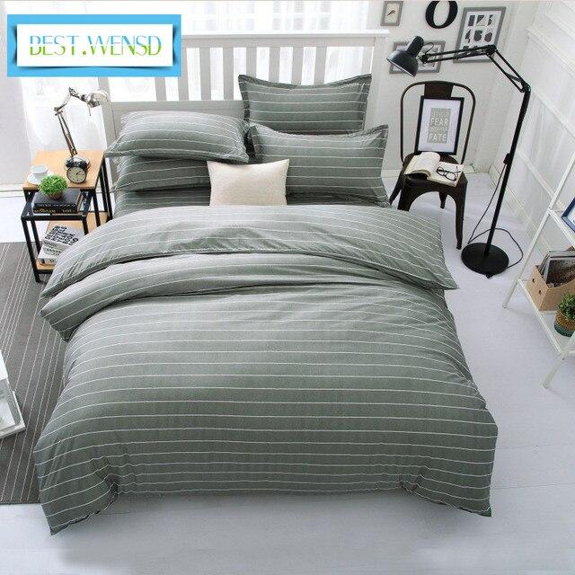 Luxury comforter set queen king duvet cover sets Stripes-Flamingo bedclothes bed cover sheet bedding Cotton Housse de couette