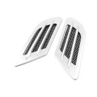Car Exterior Decor Side Vent Air Flow Fender Intake Stickers 2pcs