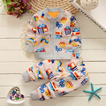 2016Autumn Winter Baby Girls Christmas Clothing Set Kid Flower Thicken Warm Clothes Set Children Thermal Cardigan sweaters+pant