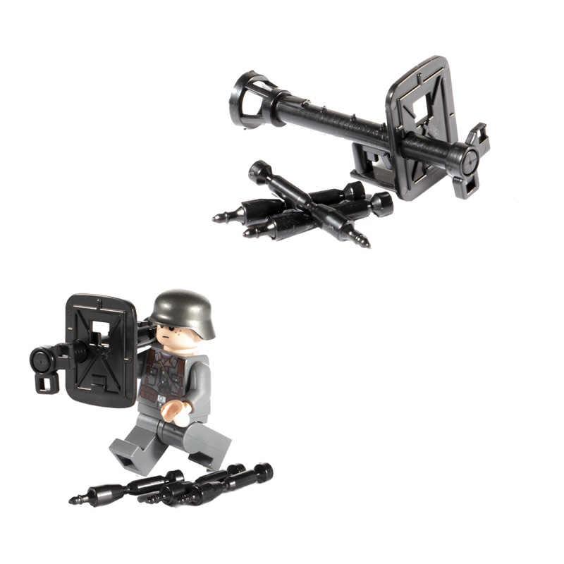WW2 Military Weapon Anti-tank Rifle Rocket Building Blocks Accessories Bricks Military Soldier Figure Parts Brick Children Toys