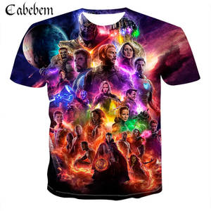 2019New summer men T-shirt 3D avengers 4 print Tshirt men's/women's fashion casual superhero American animated print T shirt