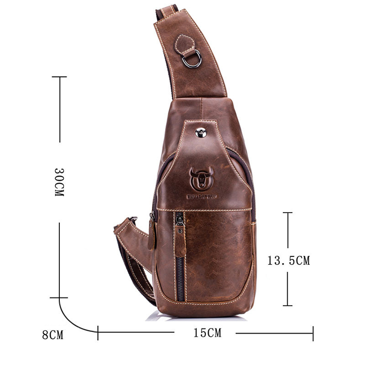 Topdudes.com - Casual Fashion Vintage Genuine Leather Chest Bags