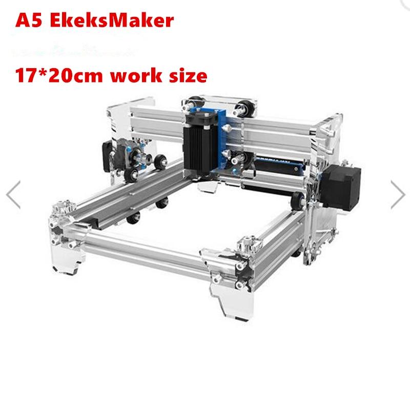 ElerksMaker Laser diy mini A5 Laser Engraving Machine Work Area 17X20cm Laser Engraver For Cutting Machine Benbox Software elerksmaker laser diy mini a3 laser engraving machine work area 30x40cm laser engraver for cutting machine benbox software