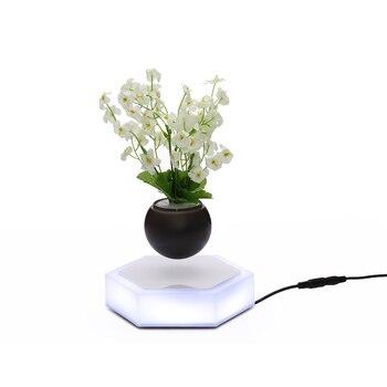 Magnétique Suspension LED pot de fleur Flottant Pot Home Decor Lévitation Air Bonsaï Pot Tournant pour La Maison Bureau Décoration Accessoires 1