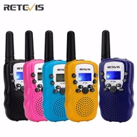 2Pcs Sky Blue Radio Walkie Talkie Kids Retevis RT 388 UHF446MHz 0 5W 8CH VOX Two