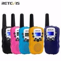 Ein Paar Retevis RT-388 Mini Walkie Talkie Kinder Radio 0,5 Watt 8/22CH LCD Display Amateur Zwei-wege Radio Talkly Kinder Transceiver