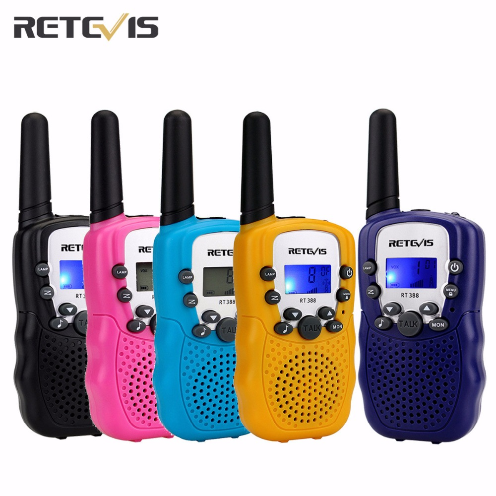 UNA Coppia Retevis RT-388 Mini Walkie Talkie Per Bambini Radio 0.5 w 8/22CH Display LCD Amatoriale A due vie radio Talkly Bambini Ricetrasmettitore