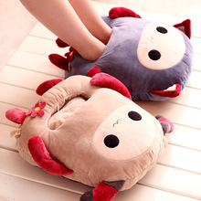 Hwd monkey cat plush doll computer thermal big slippers