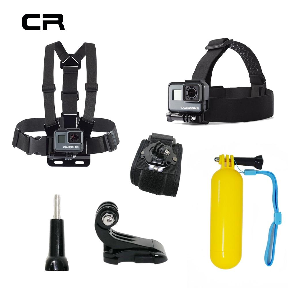 Accessoires Set Pour Gopro Hero 5 6 Poitrine Montage Pour Xiaomi Yi 4 K SJCAM Pour Go pro Hero 5 Flotteur Grille Kit Pour EKEN H9 D'action caméra