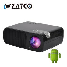 WZATCO Projector 3000Lumens Android 4.4 Wifi Smart Mini Projectors Support full hd led Proyector beamer for home theater,KTV