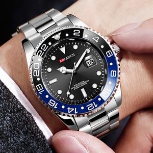 Image 3 - 남자 럭셔리 시계 브랜드 rolexable 방수 패션 간단한 아날로그 석영 손목 시계 스테인레스 스틸 밴드 시계 relogio