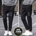 Pantalones de Chándal de los hombres Sólidos Pantalones Harlan Pantalones Joggers Basculador Pantalones Calientes Ramo de Pierna y Terciopelo