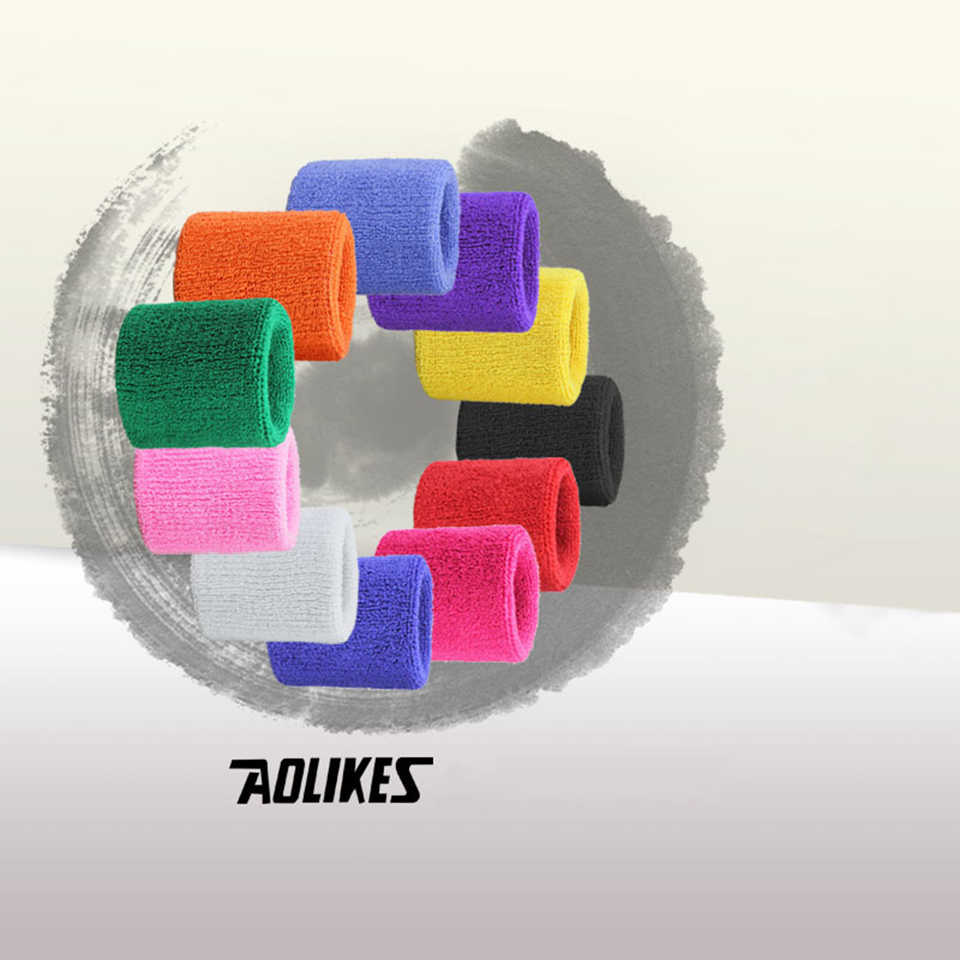 を AOLIKES 1 個スポーツリストバンドブレースラップ包帯ジムスポーツ安全手首サポート Padel 実行 Pulseira バドミントン手首バンド