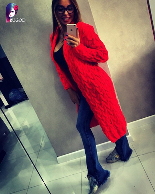 2017 New Fashion Women Knitted Sweater Coat Autumn And Winter Long Sleeve Cardigan Jacket Female Casual Outwear Tops pull Femme