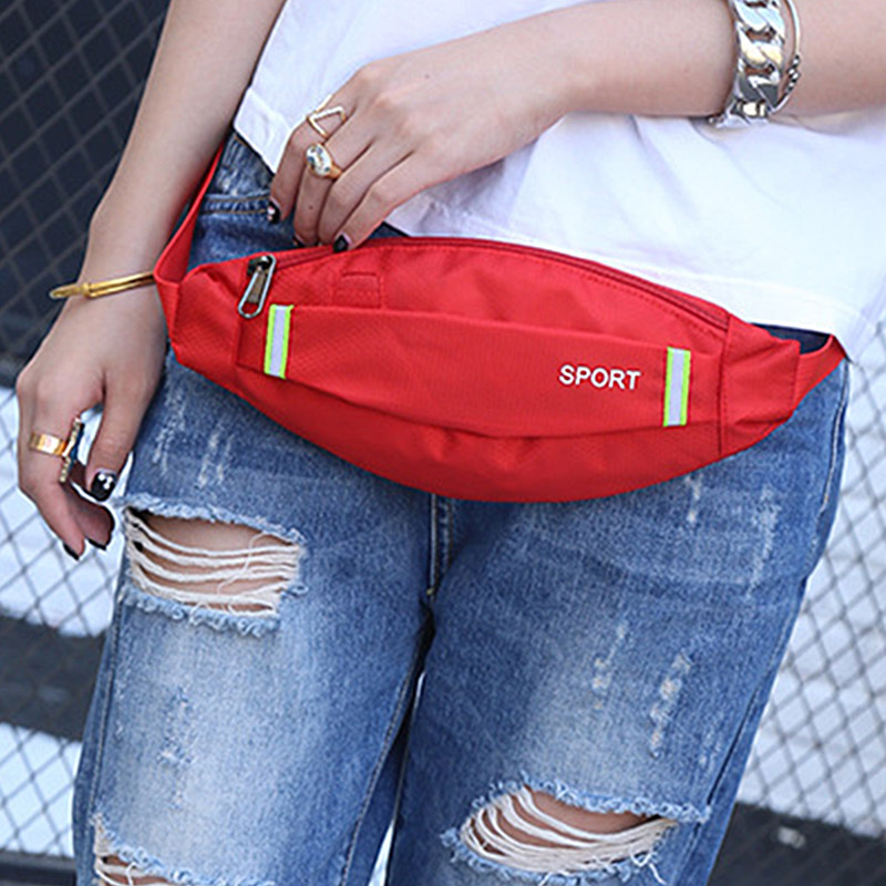 2018 Unisex Earphone Fashion Waist Belt Pack Bag Pouch Pocket Waterproof Fanny Pack Women Men Belt Bum Bag Pouch Bags