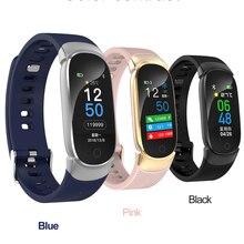 Купить с кэшбэком QW16 Smart Watch Man Woman Outdoor Sport Fitness Tracker Heart Rate Monitor Blood Pressure Oxygen Health Watch PK Mi Band 3