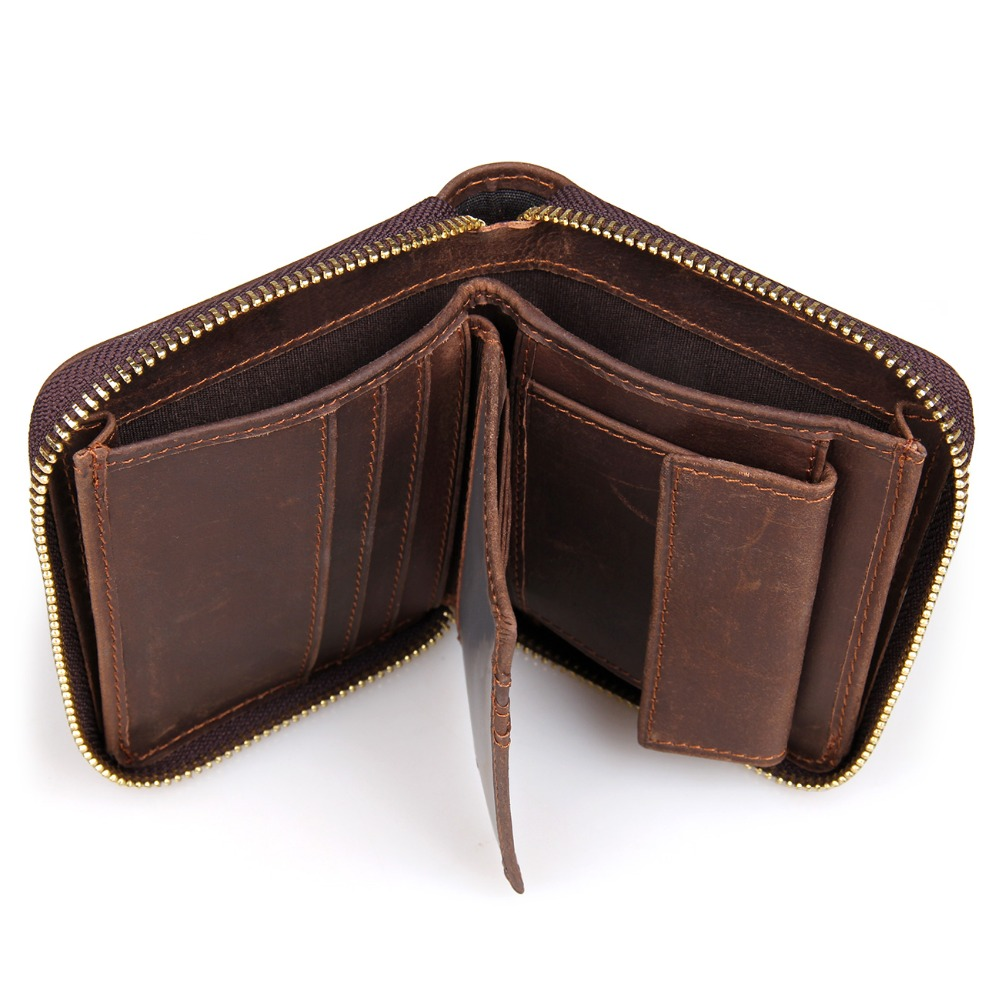 17428708 Unisex Card Hoder Leather Wallet Men Luxury Brand Wallets Zipper Around  Closed Coin Holders For Men 8083C