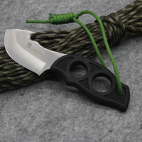 New HU70S Fixed Blade Knife 5CR13MOV Blade Black Rubber Handle Knife Tactical Knife Outdoor Survival Hunting