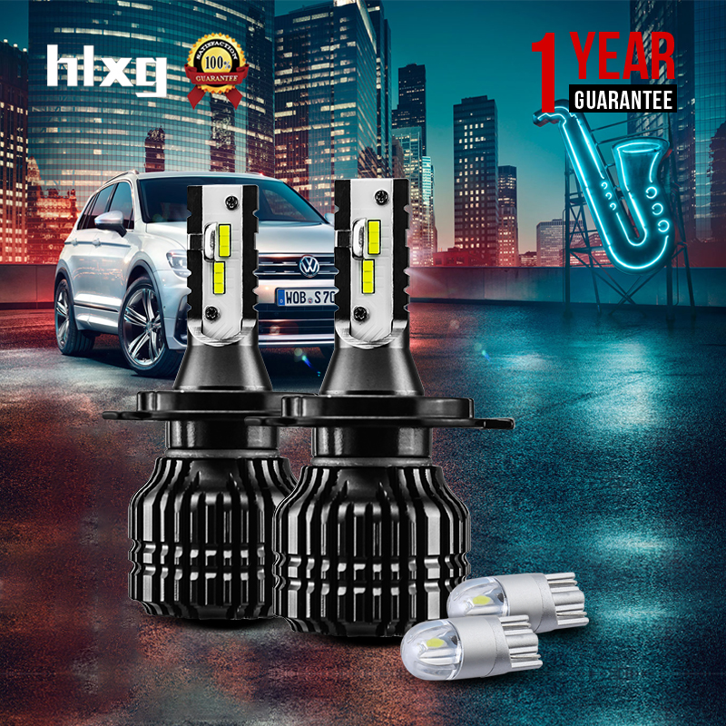 1Set CSP CHIPS Car Headlight H4 LED Bulbs High Low Beam 52W 9000LM Automobiles SUV Headlamp Cool White 6000K 12V 24V 1set csp chips car headlight h4 led bulbs high low beam 52w 9000lm automobiles suv headlamp cool white 6000k 12v 24v