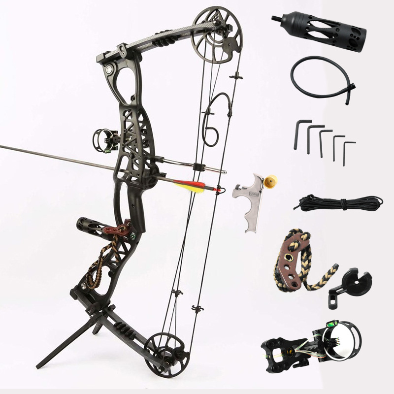купить Junxing M127 Compound Bow Archery Hunting Arrow Set Right and Left Hand General With 40-65lbs Draw Weight Outdoor Shooting по цене 24417.9 рублей