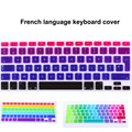 "French AZERTY layout Gradient Color Silicone Keyboard Cover Skin film For apple mac Macbook Pro 13"" 15"" 17"" Air 13"""