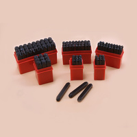 9pcs 27pcs Steel Letter And Number Stamp Punch Set With Storage Box Case Leather Tools DIY
