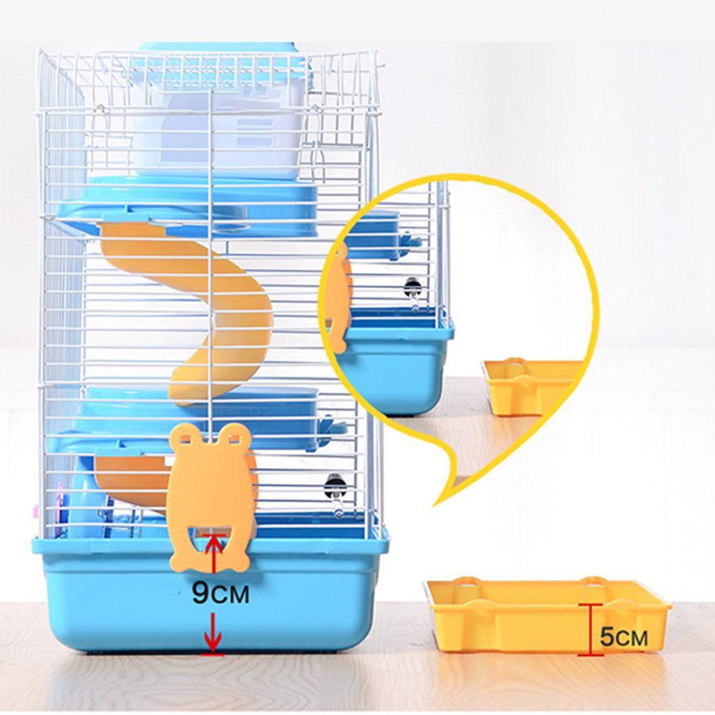 3-storey Pet Hamster Cage Luxury House Portable Mice Home Habitat Decoration