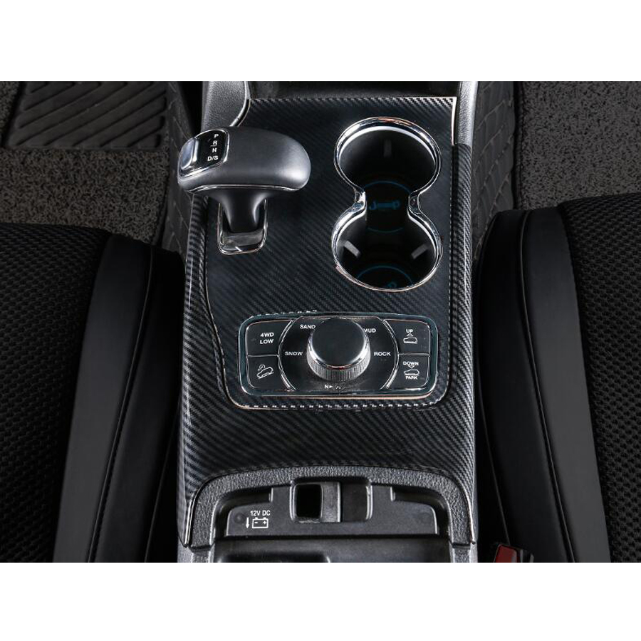 Car Interior Gear Shift Box Panel Cover Trim Styling Accessories For Jeep Grand Cherokee 2014-2017 Mouldings ABS car carbon fiber color abs interior mouldings inner gear shift covers panel trim decal for honda civic 2006 2011 mt car styling
