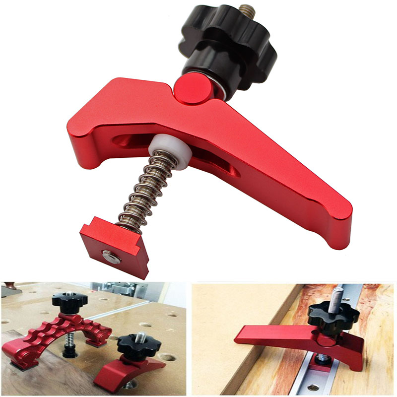 Universal T-Track Platen Miter Track Clamping Blocks Chute Blocks Woodworking Clamps For Woodworking Table