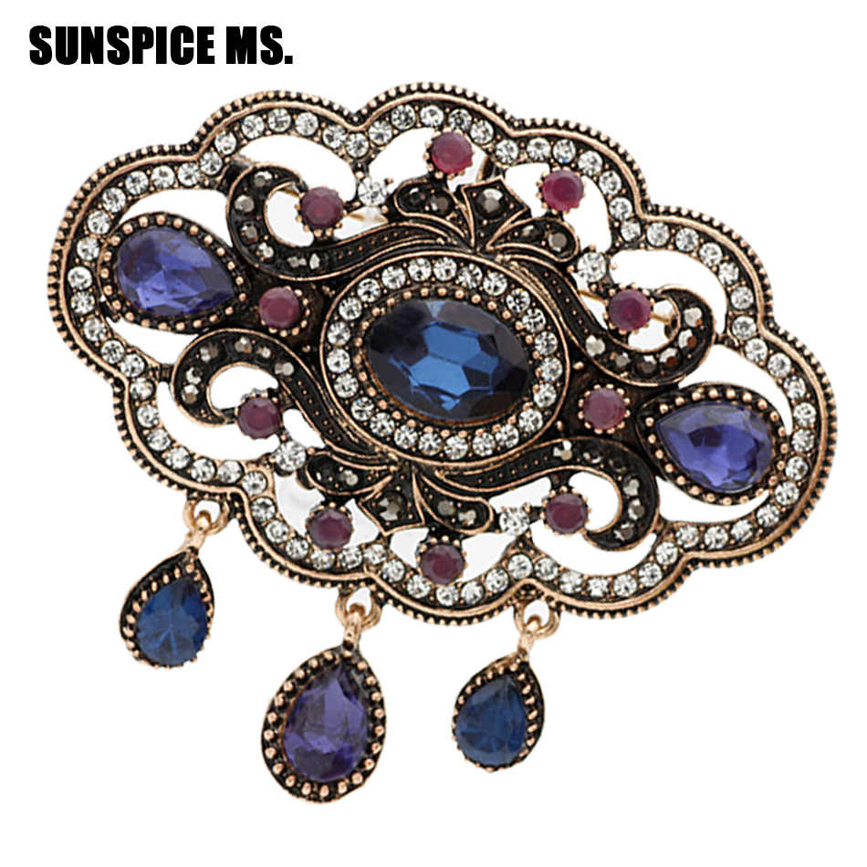 Detail Feedback Questions about Elegent Turkish Round Hollow Flower Antique  Brooch Women Ethnic Vintage Corsage Festival Jewerly Indian Bohemia Hijab  Lapel ... dfd853ffb033